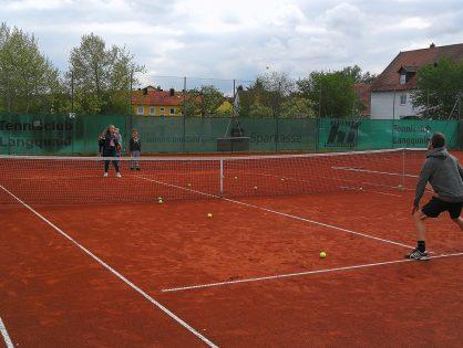 Tennis-Training beginnt
